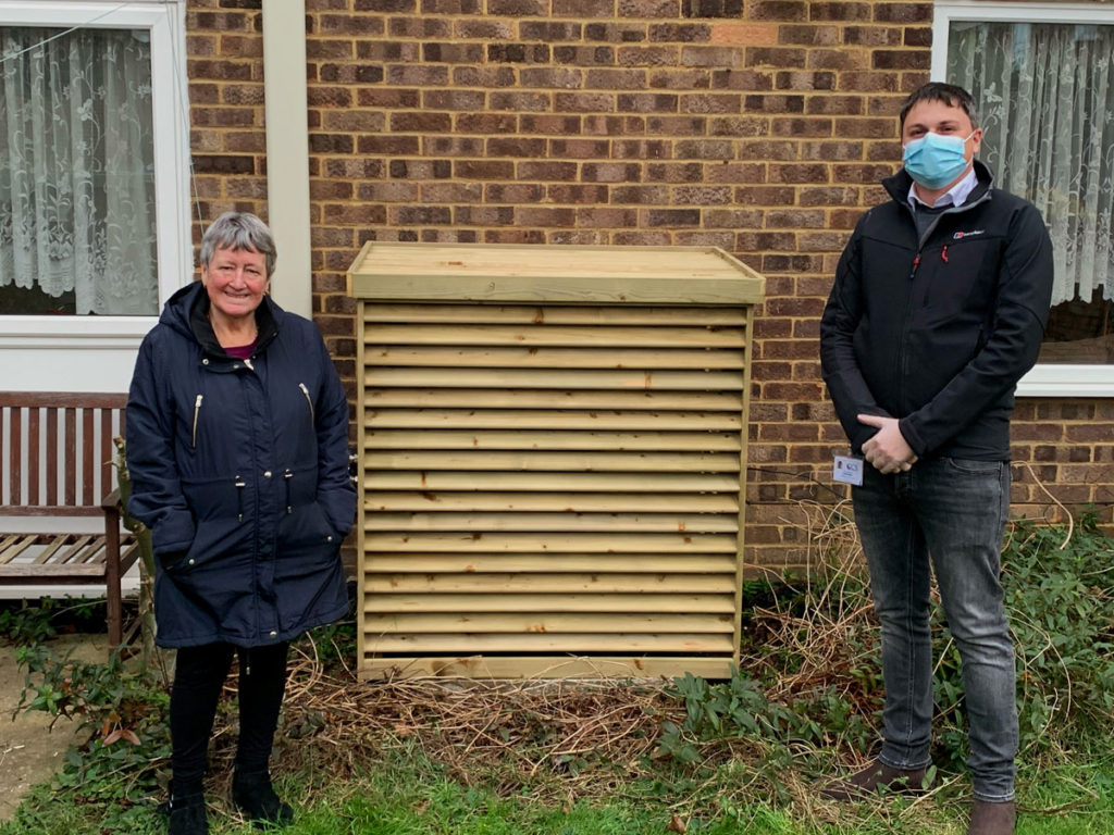 Air source heat pump installation retrofitted to Swindon social housing
